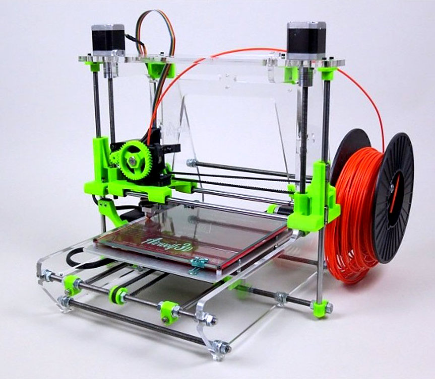 Airwolf 3D Printer AW3D V.5 + 1 LB Filament Assembled Prusa Reprap Repstrap