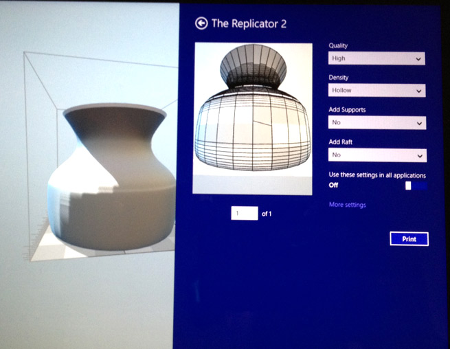 3D Printing comes to Native Windows 8.1